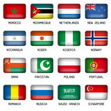Set of Rectangle World Top States Flags Stock Photography