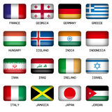 Set of Rectangle World Top States Flags Stock Image