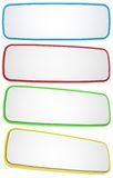 Set of rectangular banners Royalty Free Stock Photography