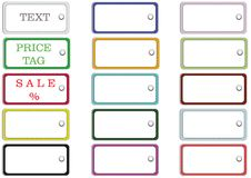 Set of rectangular labels. Collection rectangular label on the page to print, isolated, vector Royalty Free Stock Image