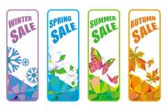 A set of rectangular labels to seasonal sales Stock Image