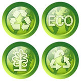 Set of recycle buttons Stock Images
