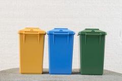 Set of recycle garbage bins Stock Photos