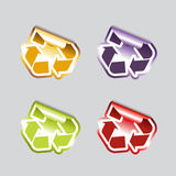 Set of recycle icons. Stock Images