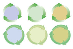 Set of recycle icons Royalty Free Stock Photography
