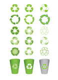 Set of recycle icons Royalty Free Stock Photos