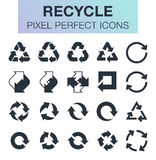 Set of recycle icons. Royalty Free Stock Images