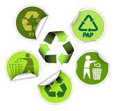 Set of recycle labels vector illustration