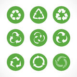 Set of recycle symbols and icons Stock Images