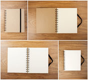 Set of Recycled paper notebook with black elastic band Stock Image