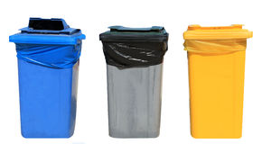 Set of recycling bins Stock Photography