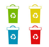 Set of recycling bins Royalty Free Stock Image