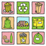 Set of recycling icons Royalty Free Stock Photo