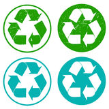 Set of recycling stamps Royalty Free Stock Photos