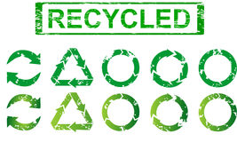 Set of recycling symbols Stock Illustration