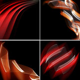 Set of red abstract backgrounds Royalty Free Stock Photography