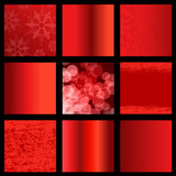 Set of red abstract backgrounds, business template design. Illustration Stock Photo