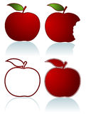 Set of red apples Stock Images