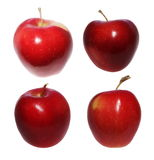 Set red apples isolated Stock Photos