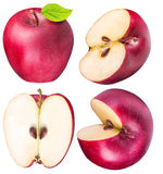 Set of red apples isolated on white background Royalty Free Stock Image