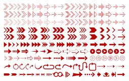 Set of red arrows icon royalty free illustration
