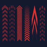 Set of red arrows. Vector illustration design Royalty Free Stock Image