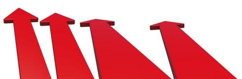 Set of red arrows on white Royalty Free Stock Photos