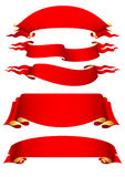 Set of red banners Royalty Free Stock Photo