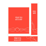 Set of red banners with abstract wave concept. Vector illustration Stock Illustration