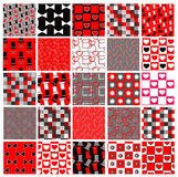 Set of red and black celebration patterns Stock Photography