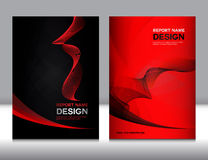 Set red and black Cover Annual report design Royalty Free Stock Images