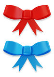 Set of Red and Blue Bow Royalty Free Stock Photography