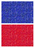 A set of red and blue shiny sparkling glitter seamless tiled texture patterns for backgrounds, gift wraps, design and Stock Photo