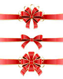 Set of red bow Royalty Free Stock Image
