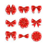 Set red bow. Royalty Free Stock Photography