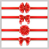 Set red bow. Stock Image