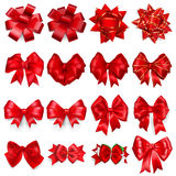 Set of red bows Stock Image