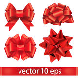 Set of red bows. Stock Image