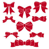 Set of red bows. Set of red bows for your design vector illustration