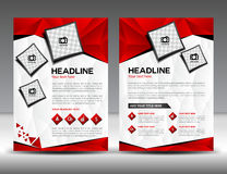 Set of red  business brochure flyer design layout template in A4. Size, newslettet, Leaflet, poster, flyer, layout vector, Catalog, Magazine ads Royalty Free Stock Image