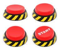 Set of red buttons Stock Photos