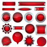 Set red buttons Royalty Free Stock Image