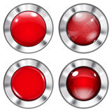 Set of red buttons Royalty Free Stock Image