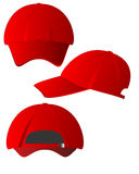 Set of red caps Royalty Free Stock Photography