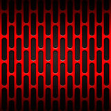 Set 8 red carbon fiber mesh on black metal plate. Set 8. red carbon fiber mesh on black metal plate. background and texture. 3d illustration Stock Image