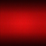 Set 8 red carbon fiber mesh on red metal plate Stock Photography