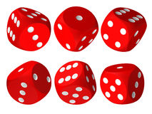 Set of red casino craps Royalty Free Stock Image