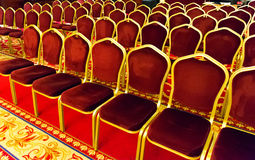 Set of red chairs Royalty Free Stock Photo