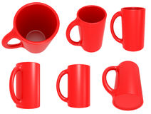 Set of red cups Stock Photo
