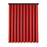 Set of red curtains to theater stage. Mesh vector illustration. Stock Photo